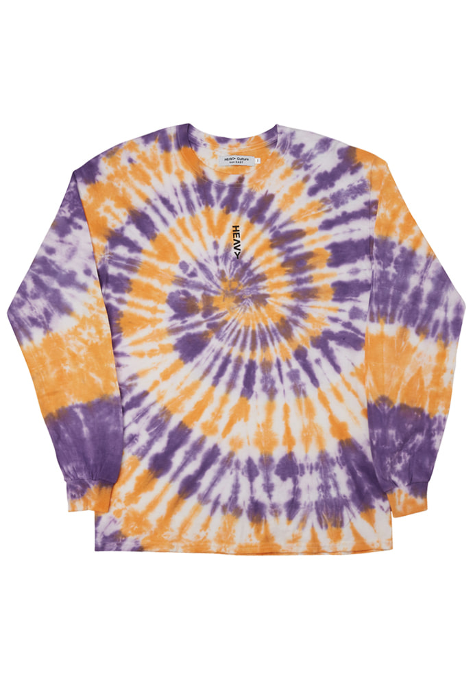 HEAVY Culture헤비컬쳐 Tiedye Long Sleeve (Purple&Orange)