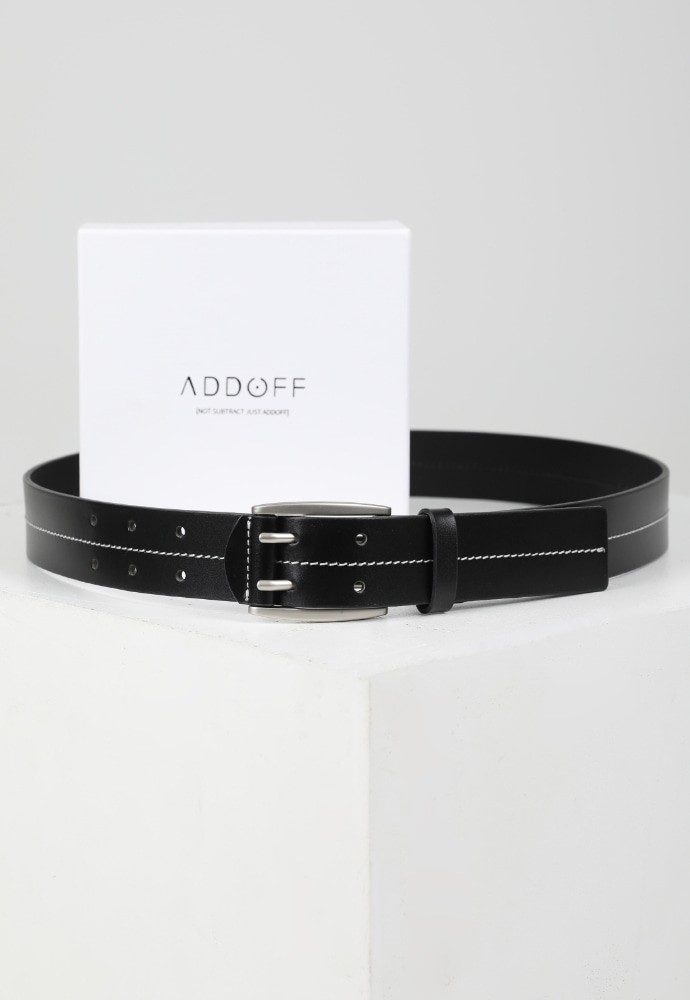 ADDOFF애드오프 Classic Stitch Belt - BLACK