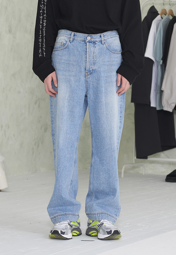 INNER CITY AUDIO이너시티오디오 STITCH DENIM PANTS WASHED