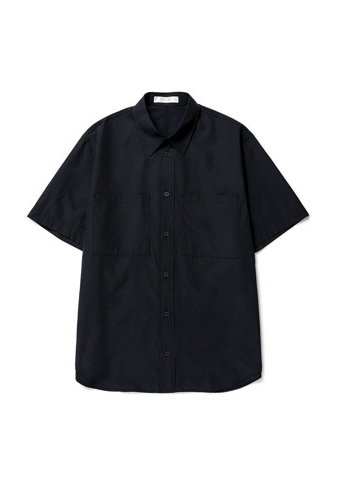 ENOU에노우 OVERSIZED HALF SHIRT[NAVY]