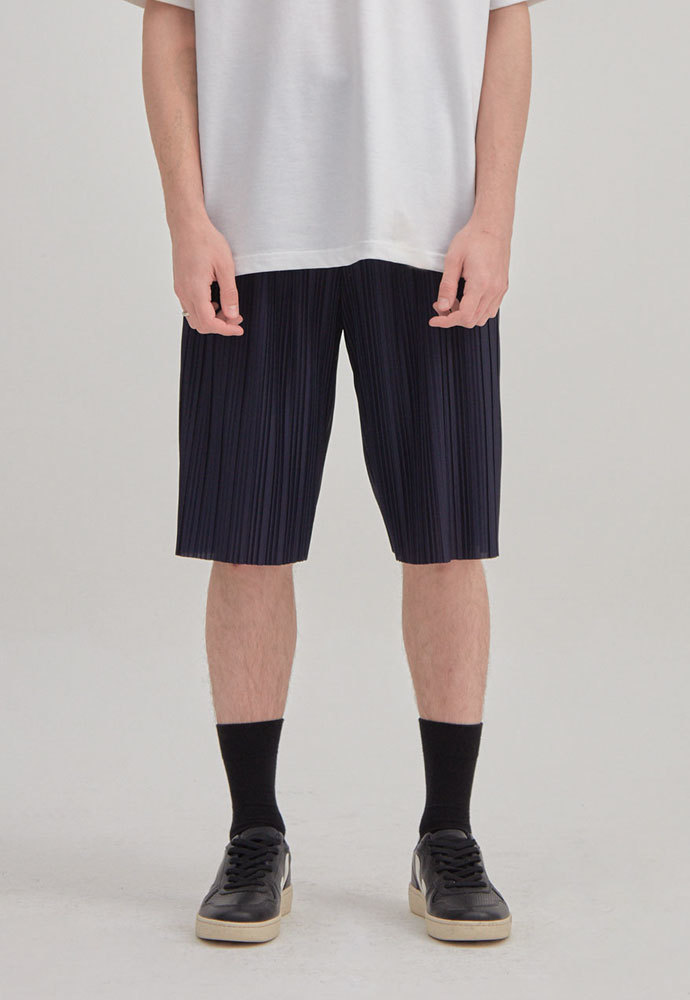 ENOU에노우 PLEATED SHORTS[NAVY]