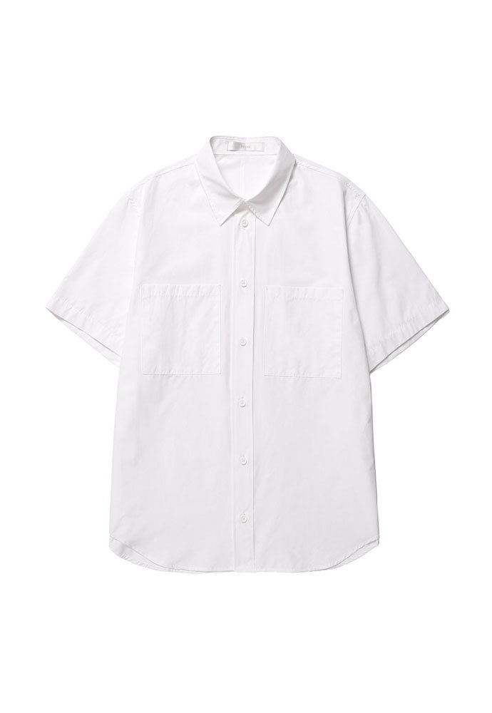 ENOU에노우 OVERSIZED HALF SHIRT[WHITE]