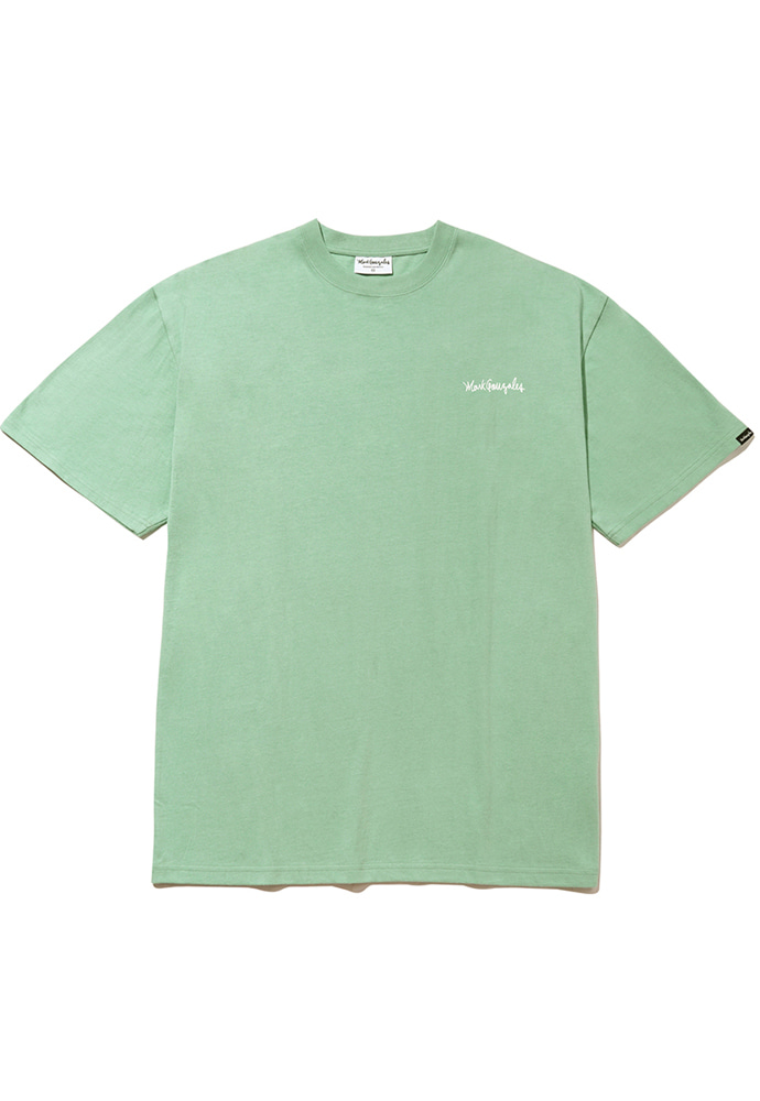 Markgonzales마크곤잘레스 M/G SMALL SIGN LOGO T-SHIRTS SAGE GREEN