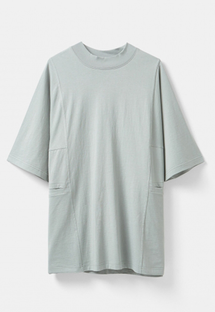 YOUTH유스랩 Mock Neck Half T-shirt Grey