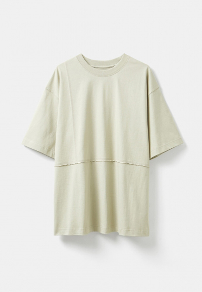 YOUTH유스랩 Cut-off T-shirt Beige