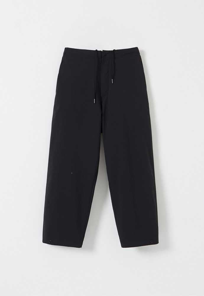 YOUTH유스랩 Cropped Wide Pants Black