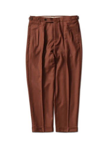 PERENN퍼렌 2pleats trousers_brick brown