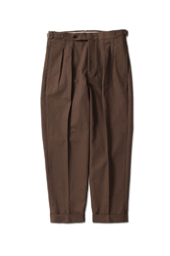 PERENN퍼렌 2pleats cropped trousers_khaki brown