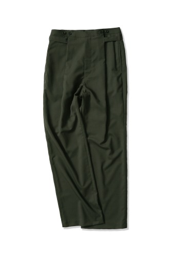 PERENN퍼렌 button wide trousers_hunter green