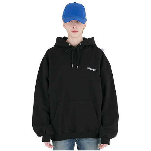 PIANARI피어나리 mini logo hoodie sweat shirt  ( black )