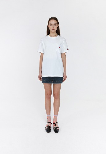 KIRSH키르시 POCKET CHERRY T-SHIRT JH [WHITE]
