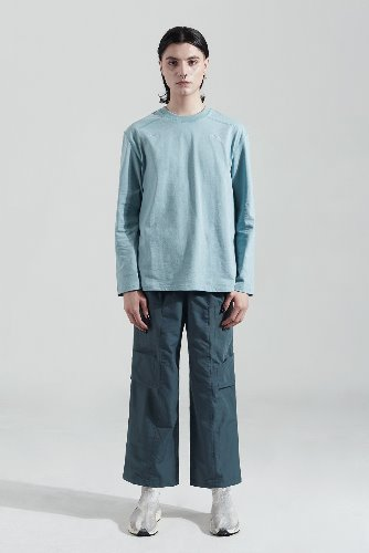 Bienkimiiye비안키미이예 Two side over longsleeve (LIGHT BLUE)