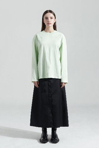 Bienkimiiye비안키미이예 Two side over longsleeve (LIGHT GREEN)