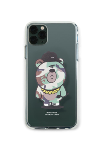 Stigma스티그마 PHONE CASE CAMOUFLAGE BEAR GREEN CLEAR iPHONE 11 / 11 Pro / 11 Pro Max