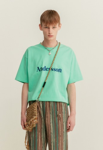 Anderssonbell앤더슨벨 UNISEX ANDERSSON SIGNATURE EMBROIDERY TEE atb211u(Mint Green)