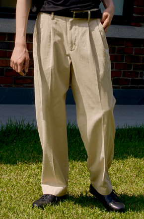 Noun노운 [noun]wide tapered pants (beige)