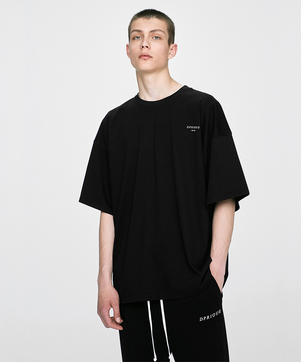 D.prique디프리크 Oversized T-Shirt - Black