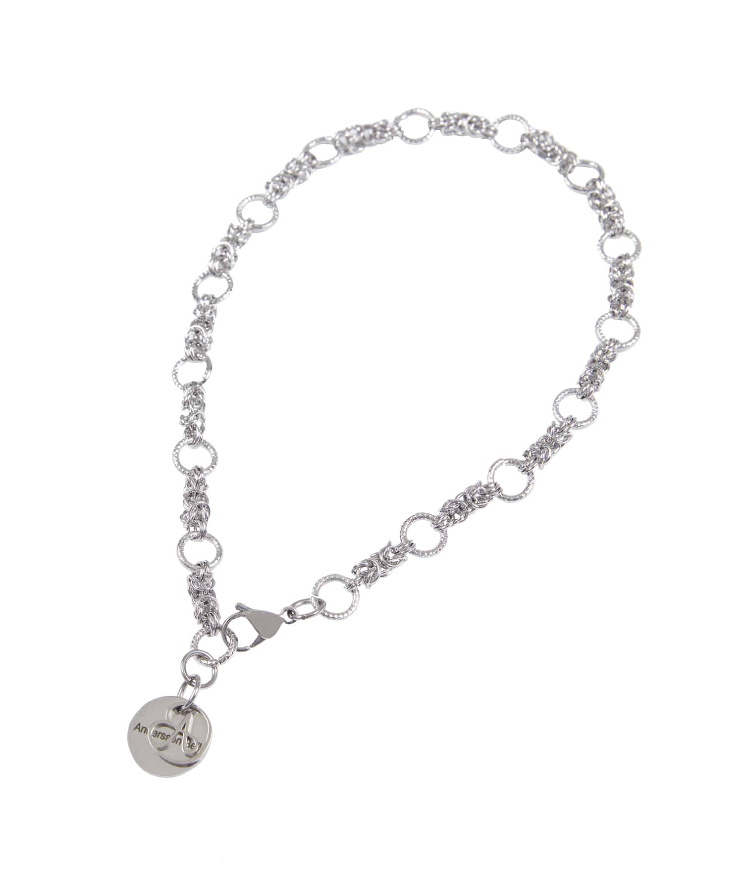 Anderssonbell앤더슨벨 UNISEX GOTHIC CHAIN NECKLACE aaa255u(SILVER)
