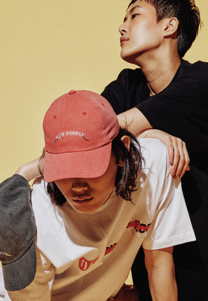 ORDINARY PEOPLE오디너리피플 RED PIGMENT NEW PEOPLE CAP