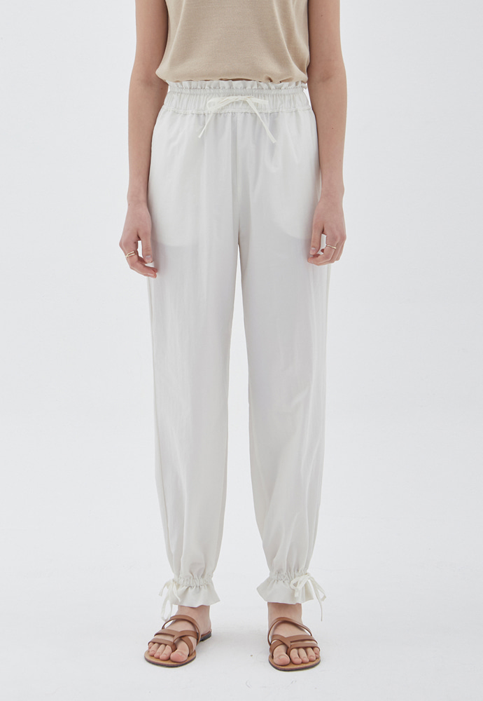 L'OEIL로에일 STRING POINT JOGGER PANTS_IVORY