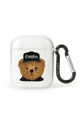 Stigma스티그마 AirPods CASE COMPTON BEAR CLEAR