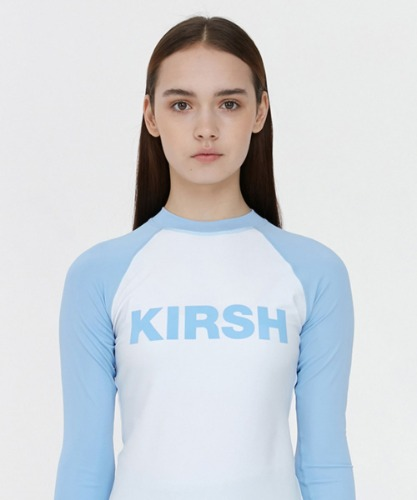 KIRSH키르시 [당일발송] KIRSH LOGO RASHGUARD JH [LIGHT BLUE]
