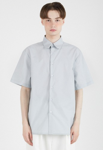 ADDOFF애드오프 Square Collar Short Sleeve Shirt - Mint Green