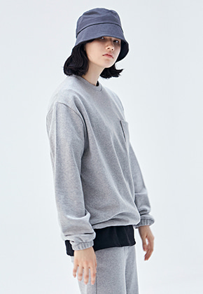 COUCOU코우코우 [COUCOU] W MINIMAL SWEAT CREWNECK_GRAY