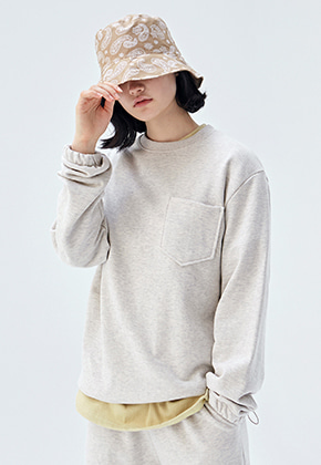COUCOU코우코우 [COUCOU] W MINIMAL SWEAT CREWNECK_OATMEAL