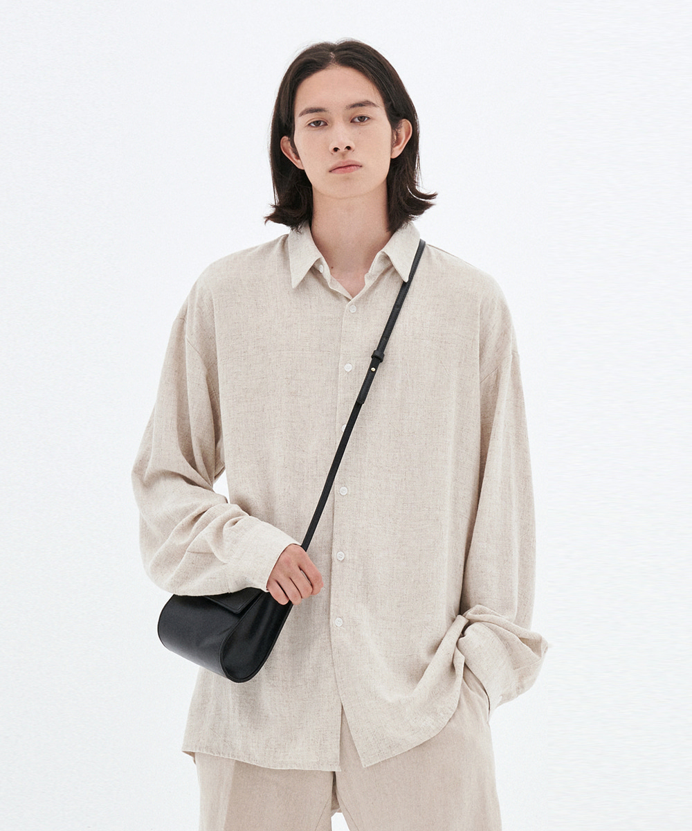L'OEIL로에일 LOOSE-FIT LINEN SHIRTS_OATMEAL