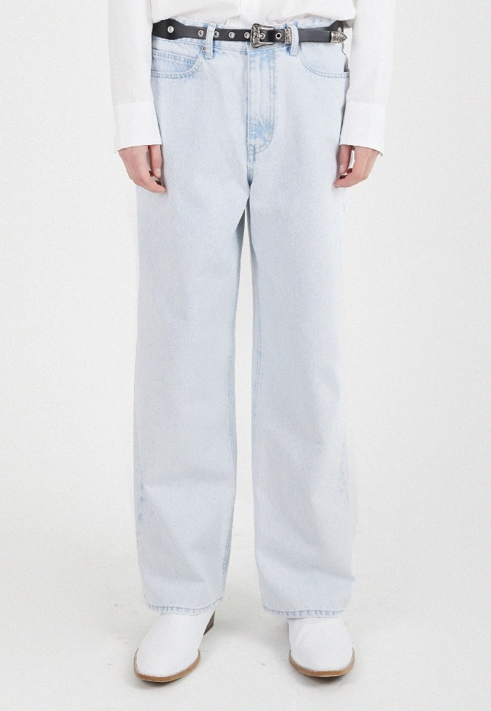 ADDOFF애드오프 Newtro Wide Denim Pants - Ice Melt