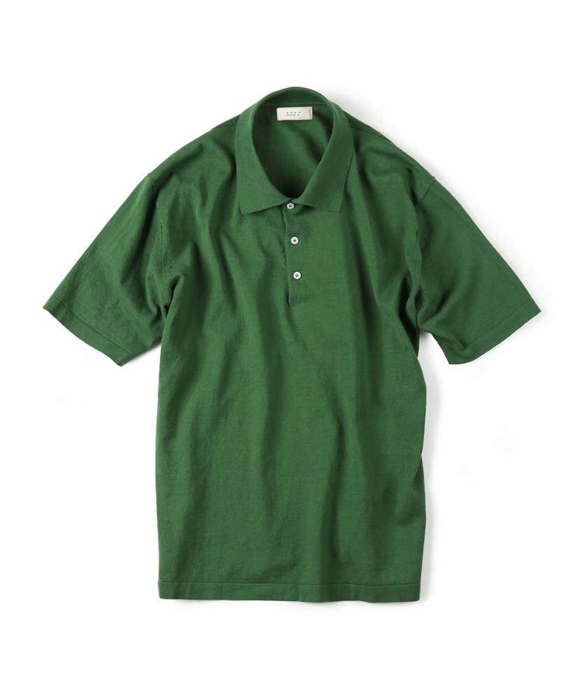 Shirter셔터 HIGH TWIST COTTON POLO KNIT GREEN [TRICOTER for SHIRTER]