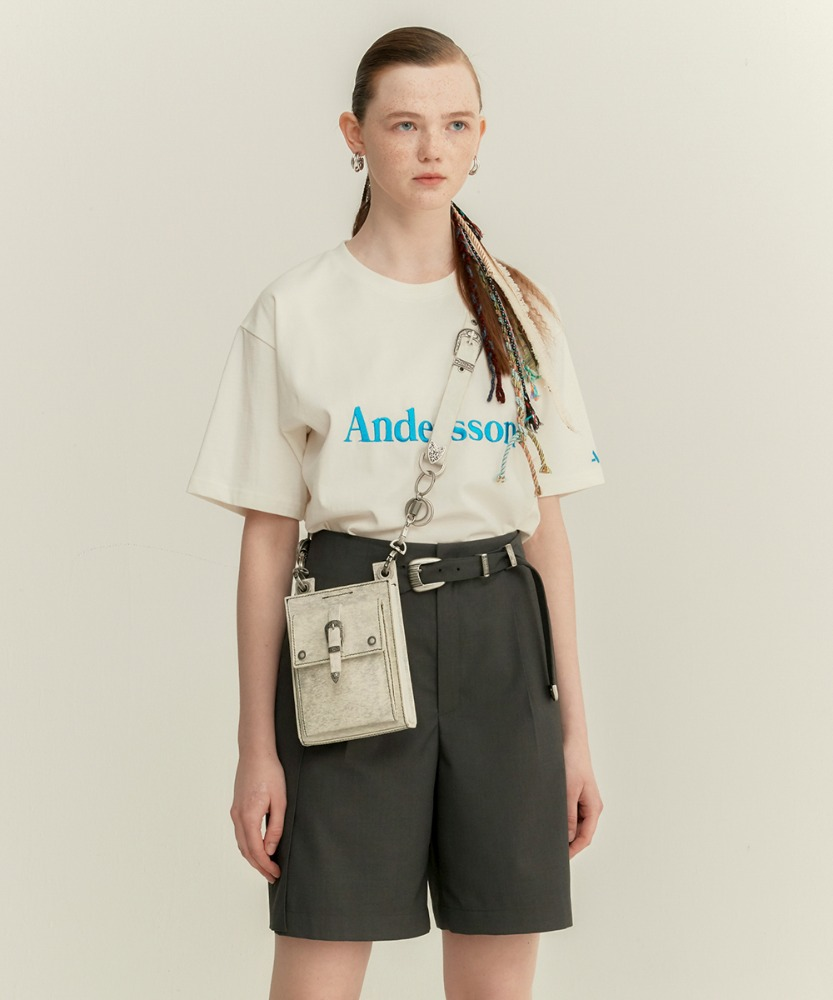 Anderssonbell앤더슨벨 UNISEX ANDERSSON SIGNATURE EMBROIDERY TEE atb211u(White)