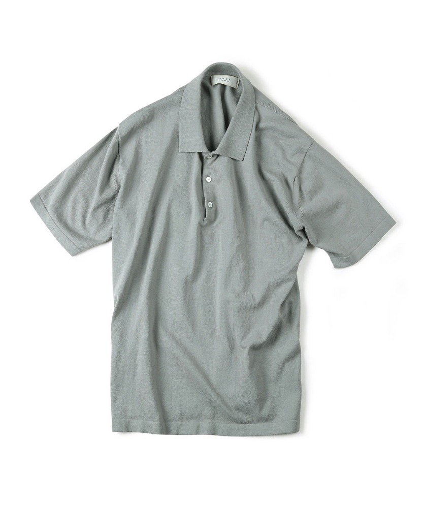 Shirter셔터 HIGH TWIST COTTON POLO KNIT GREY [TRICOTER for SHIRTER]