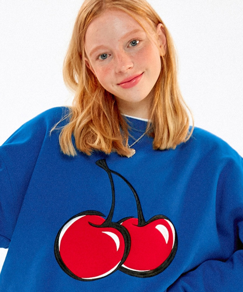 KIRSH키르시 BIG CHERRY SWEATSHIRT JA [BLUE]