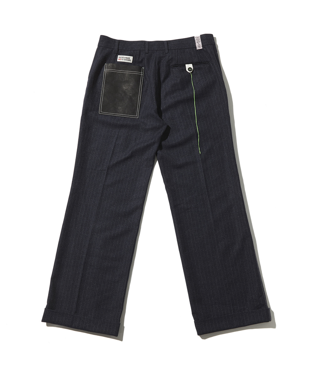 JOEGUSH조거쉬 Stitched wool trouser (Stripe dark navy)