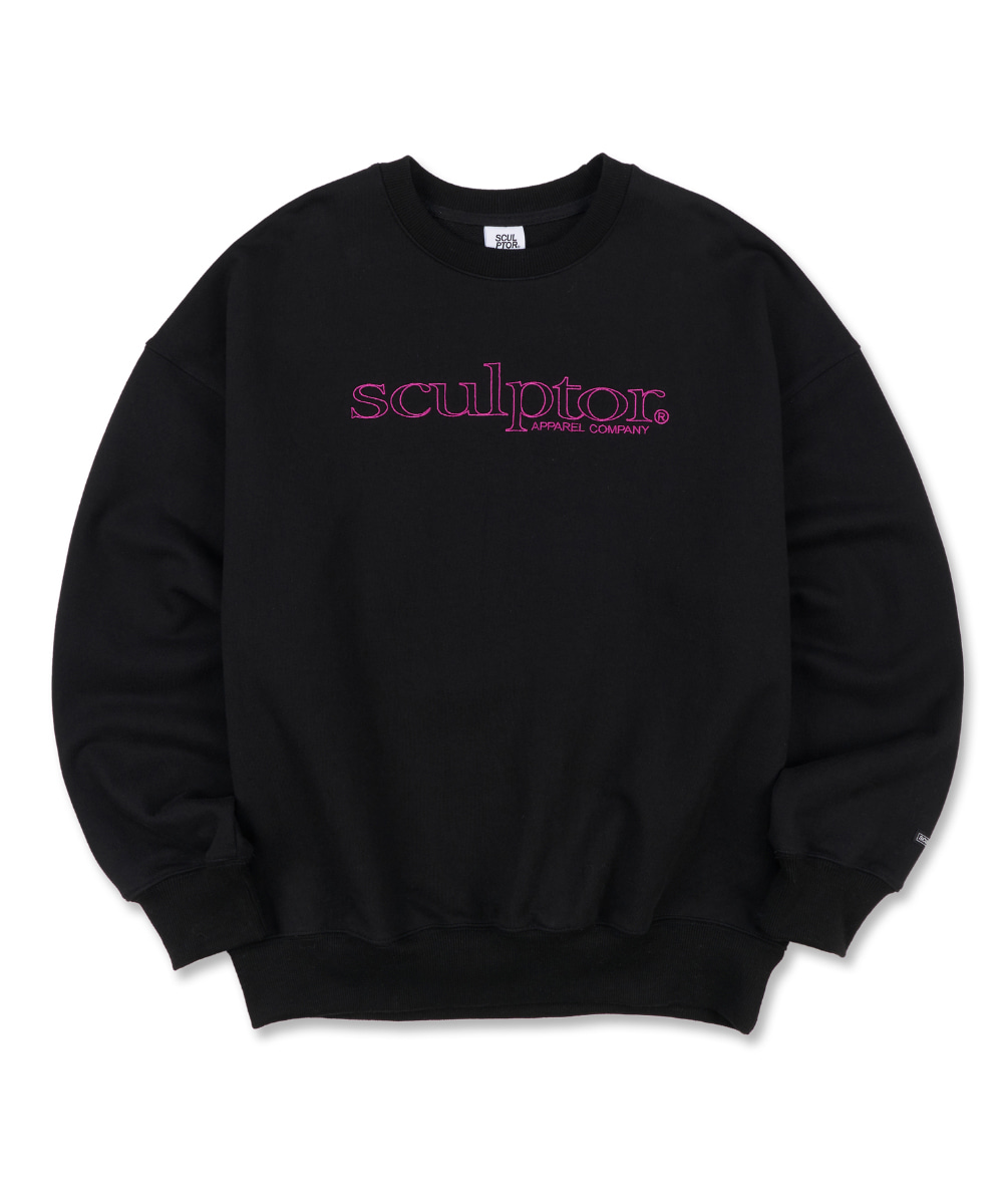 SCULPTOR스컬프터 Retro Outline Sweatshirt [BLACK] 20FW