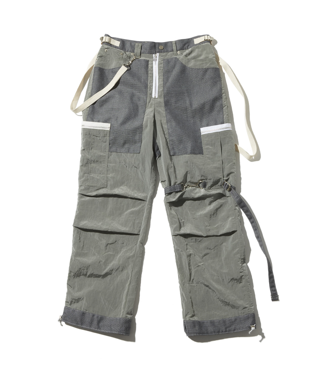 JOEGUSH조거쉬 Tactical cargo pants (Grey)