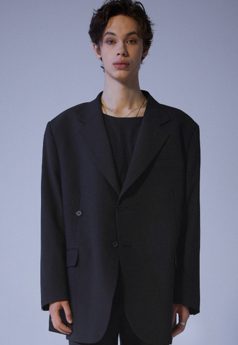 ADDOFF애드오프 3Way Wrap Blazer - Black