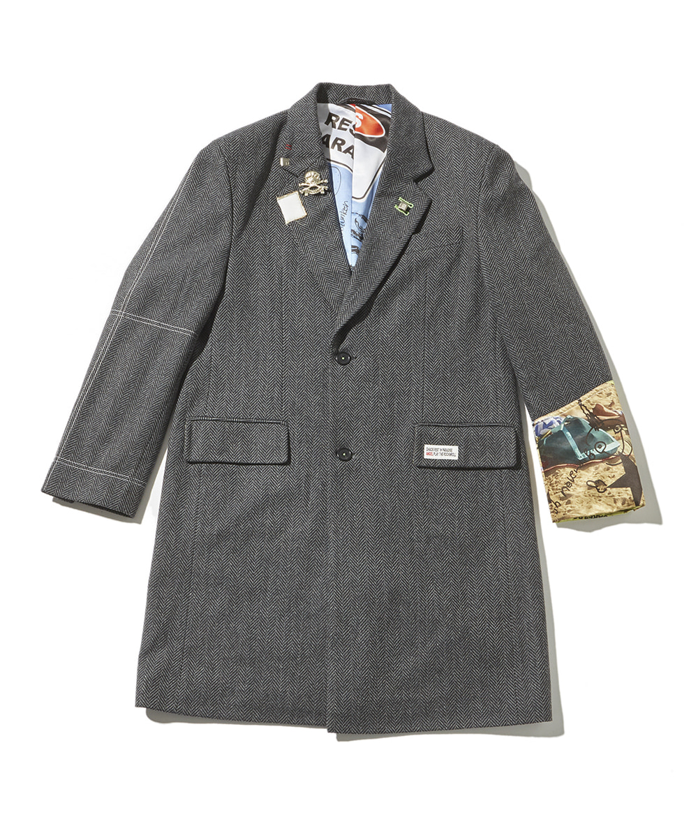 JOEGUSH조거쉬 Chaos Chester filed coat (Grey herringbone)