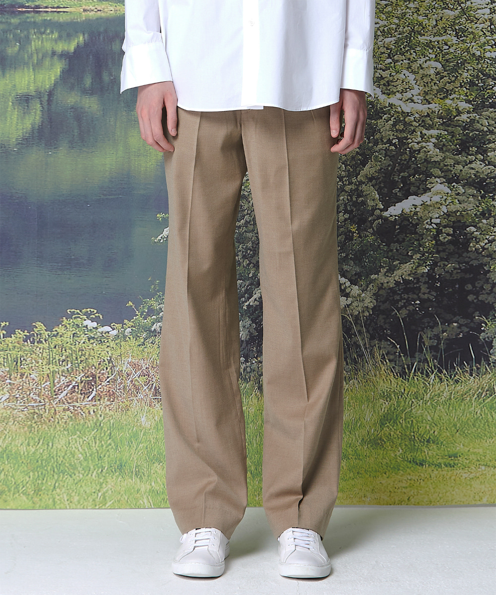 Millin밀린 (9월 24일 예약배송) Long Wide Trousers(Brown)