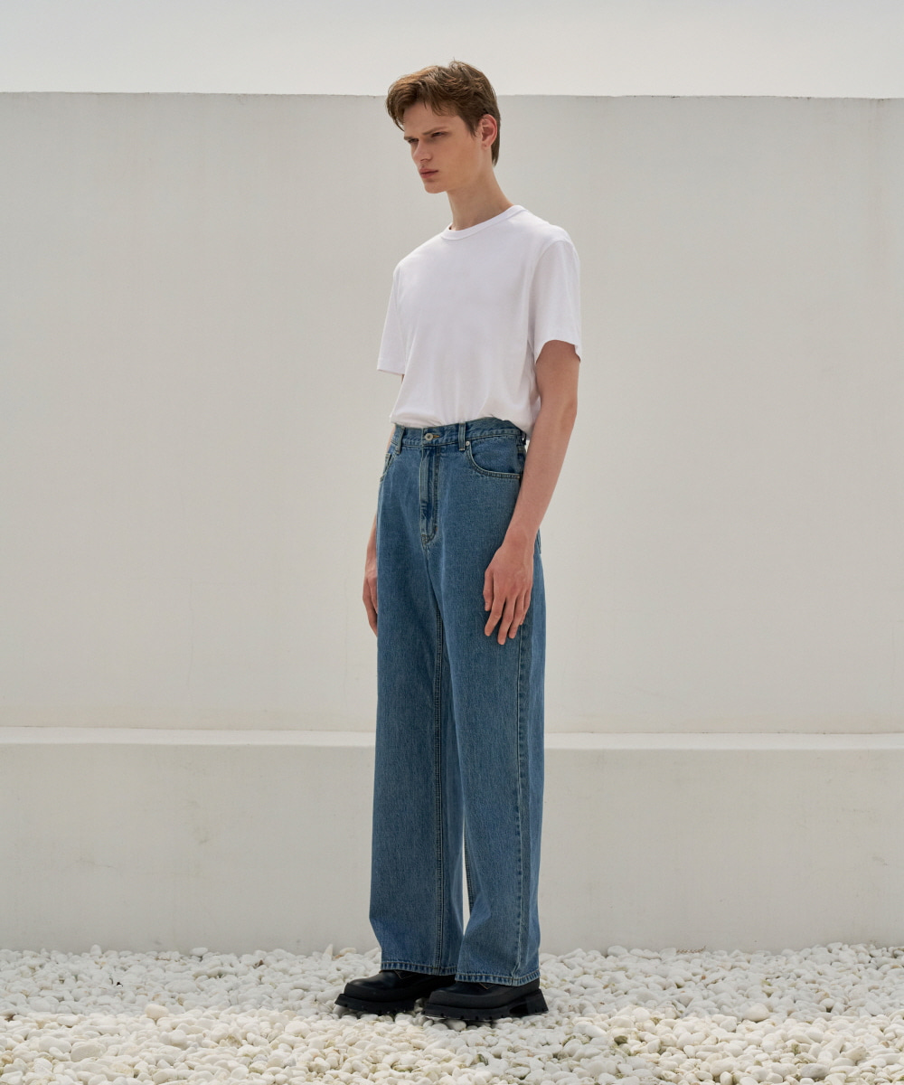 STU에스티유 Loosefit Denim Pants Blue