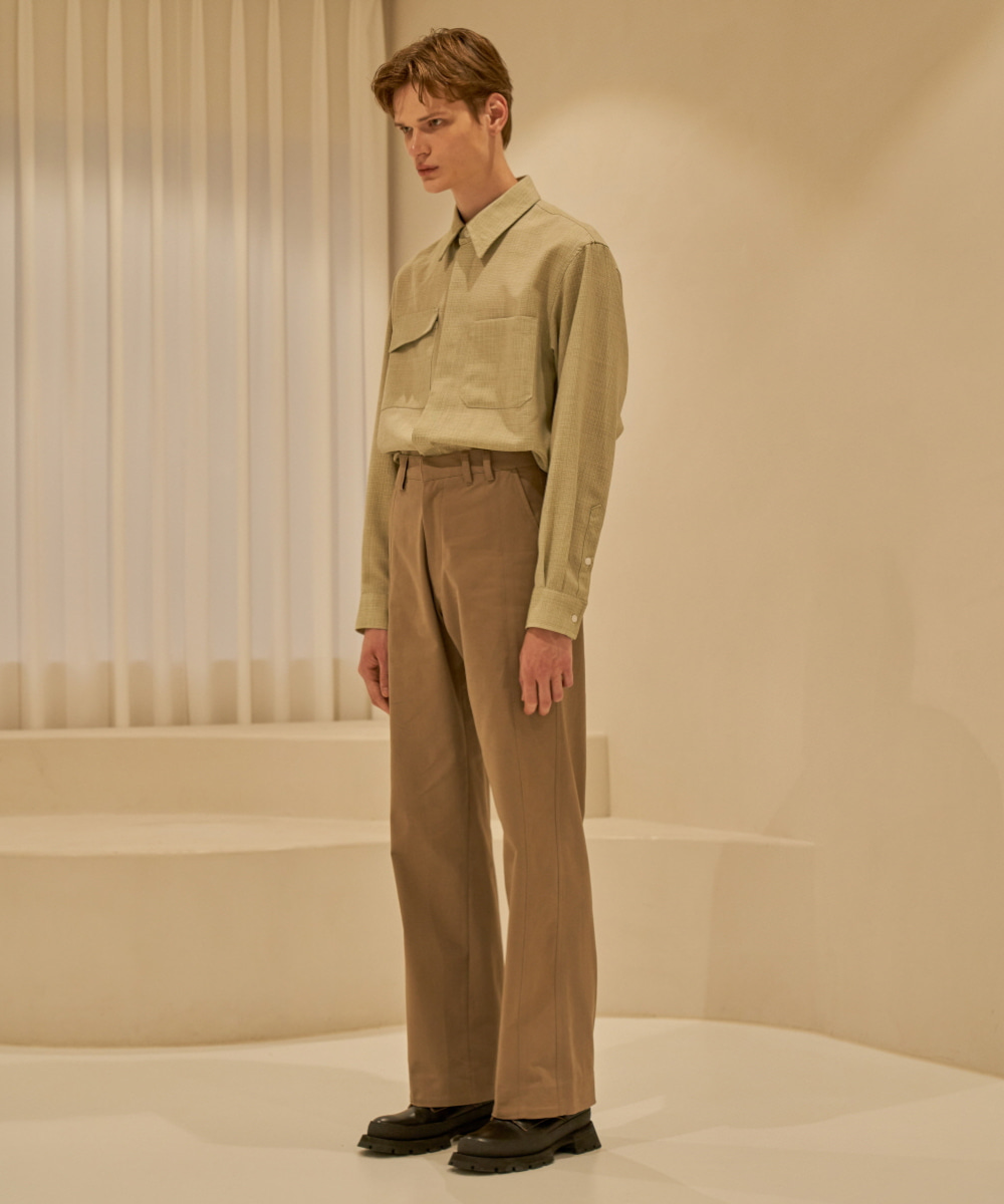 STU에스티유 Loosfit Cotton Pants Beige