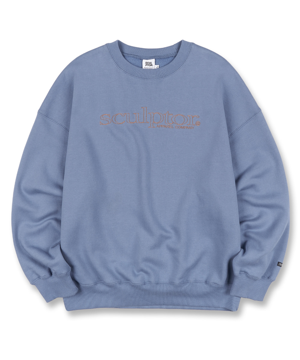 SCULPTOR스컬프터 Retro Outline Sweatshirt [BLUE] 20FW