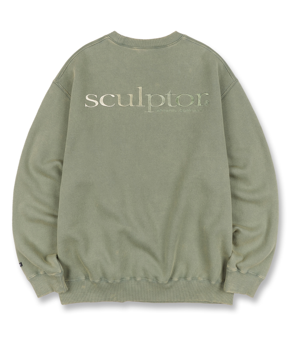 SCULPTOR스컬프터 Gradation Retro Sweatshirt [SAGE] 20FW