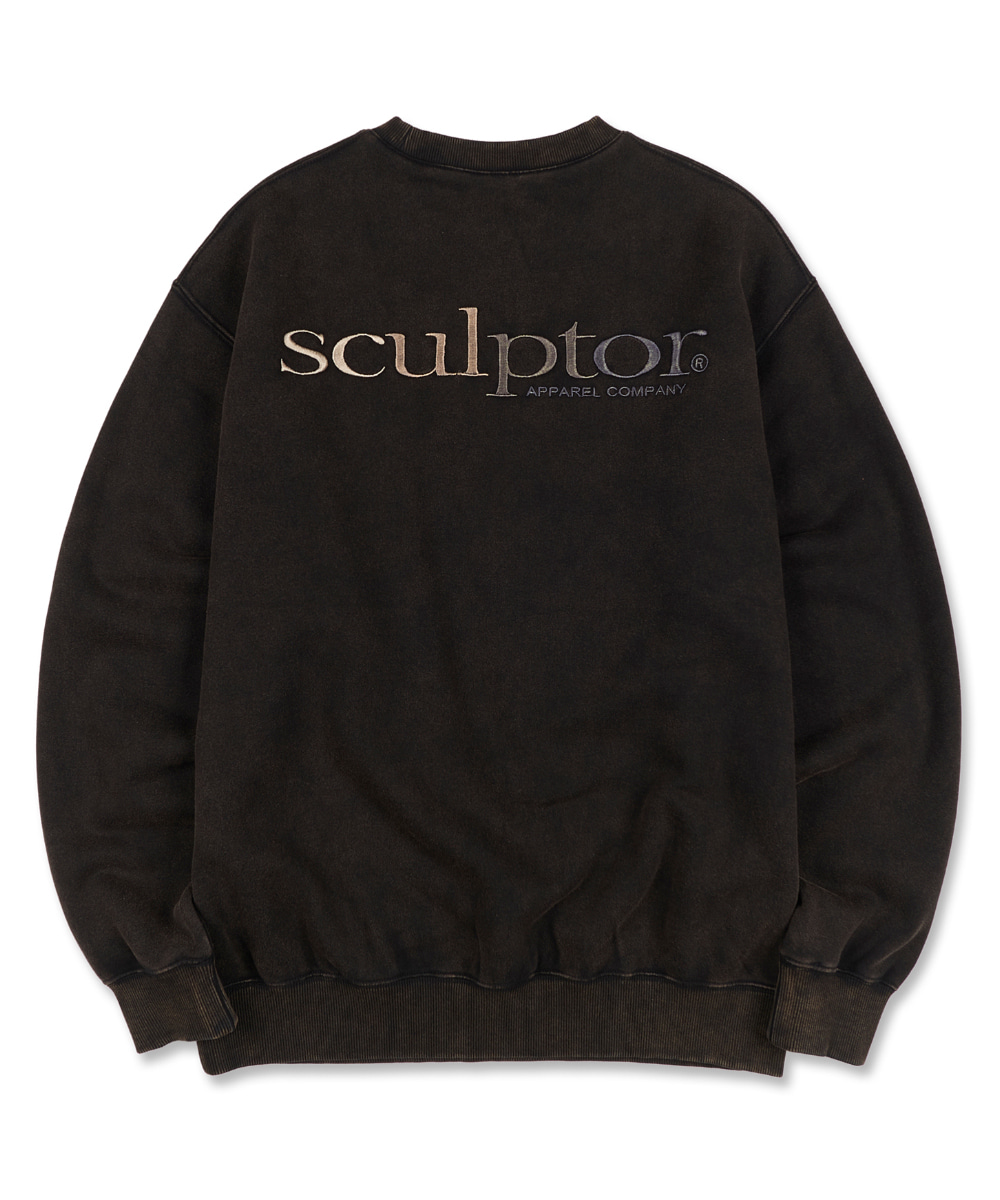 SCULPTOR스컬프터 Gradation Retro Sweatshirt [BLACK] 20FW