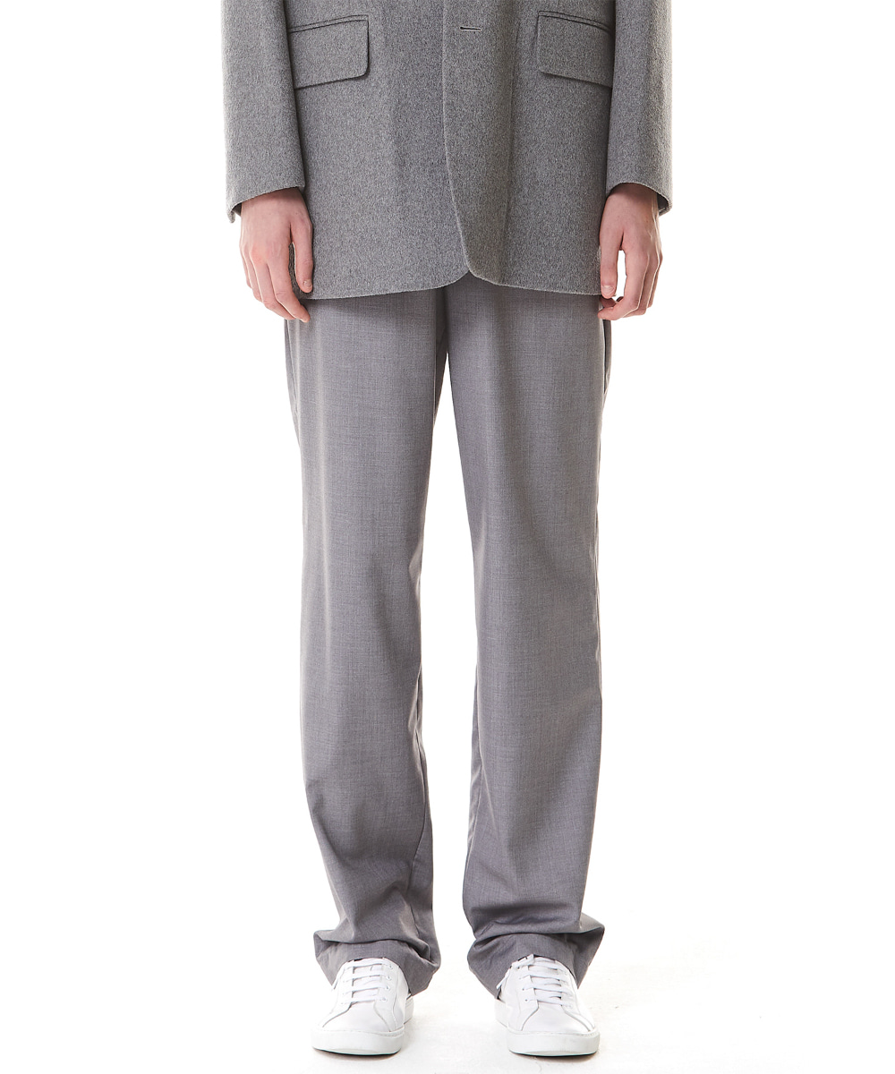 Millin밀린 (9월 24일 예약배송) Long Wide Trousers(Gray)