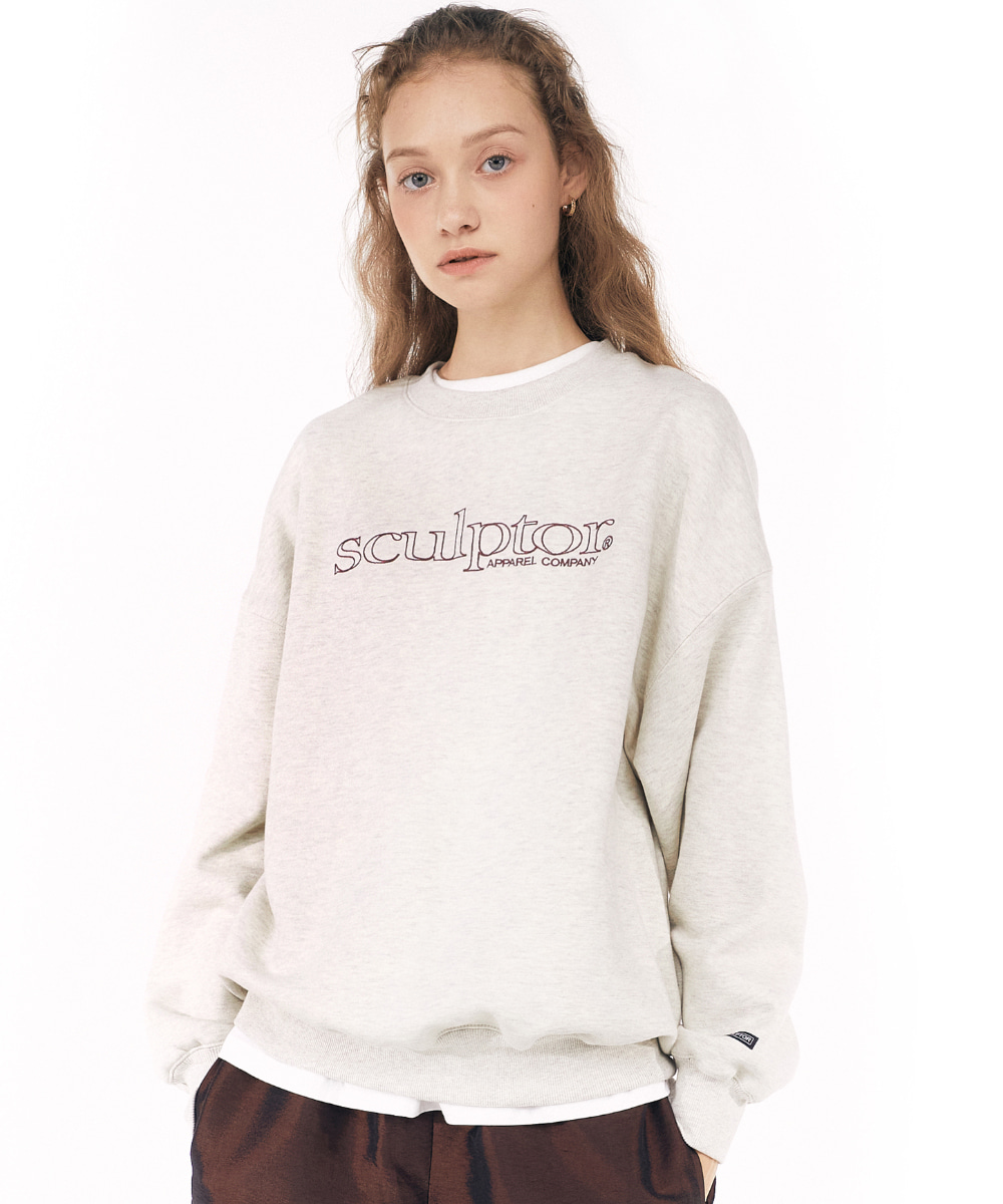 SCULPTOR스컬프터 Retro Outline Sweatshirt [OATMEAL] 20FW