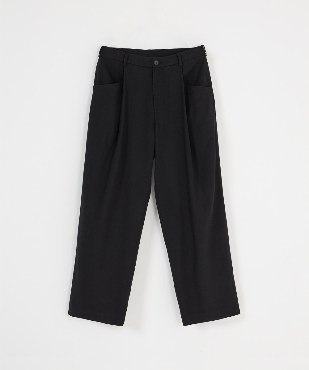 YOUTH유스랩 Structured Wide Pants Black