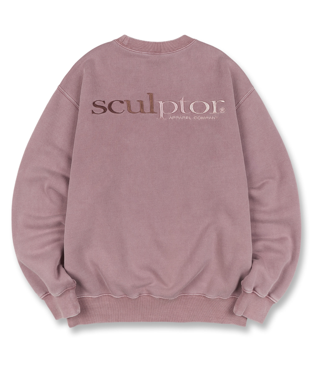 SCULPTOR스컬프터 Gradation Retro Sweatshirt [MAUVE] 20FW
